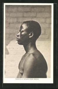 AK Ibadan, A Yoruba, junger Mann mit Narben im Gesicht