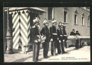 AK Monaco, Carabiniers, Gardes d`honneur du Prince