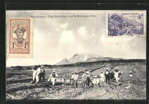 AK Martinique, Une Excursion vers la Montagne-Pelée