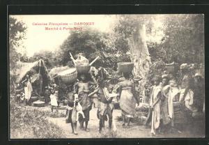 AK Dahomey, Marché á Porto-Novo