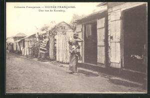 AK Guinée Francaise, Une rue de Konakry