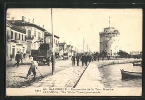 AK Salonique, Promenade de la Tour Blanche