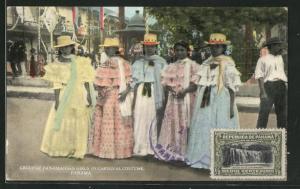 AK Panama, Group of Panamanian Girls in Carnival Costume