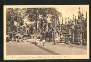 AK Rangoon, Gebetstempel in der goldenen Pagode