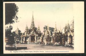 AK Rangoon, Pagodas at Base of Shwe Dagon