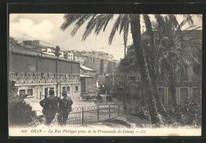 AK Oran, La Rue Philippe prise de la Promenade de Letang