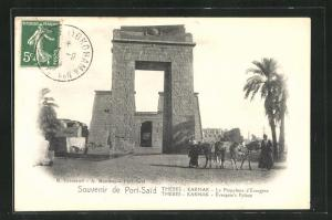 AK Port-Said, Thebes, Karnak, Le Propylone d`Evergese