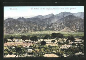 AK Tucuman, El Banado con las antiguas posesiones de los indios Quilmes