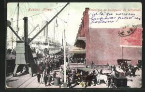 AK Buenos Aires, Embarque de pasageros de Ultramar, Kaianlagen
