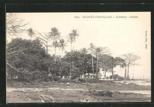 AK Konakry, Entree, Häuser an Küste