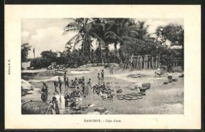 AK Dahomey, Coin d`eau, Wasserstelle