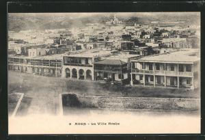 AK Aden, La Ville Arabe, Blick auf Häuser und Moschee aus der Vogelschau