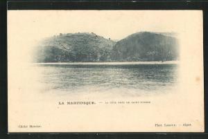 AK Saint-Pierre, La Cote, Blick vom Wasser auf Küste