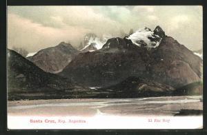 AK Fitz Roy, Gebirgsmassiv mit Flusslauf