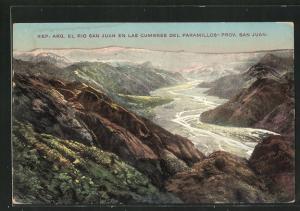 AK Argentinien, Rio San Juan en las Cumbres del Paramillos