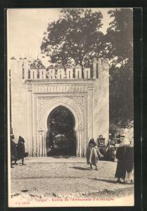 AK Tanger, Entrée de l`Ambassade d`Allemagne, Eingang zur Deutschen Botschaft