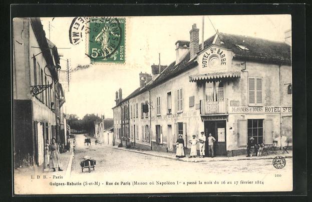 AK Guignes-Rabutin, Rue de Paris, Maison ou Napoleon I. 0