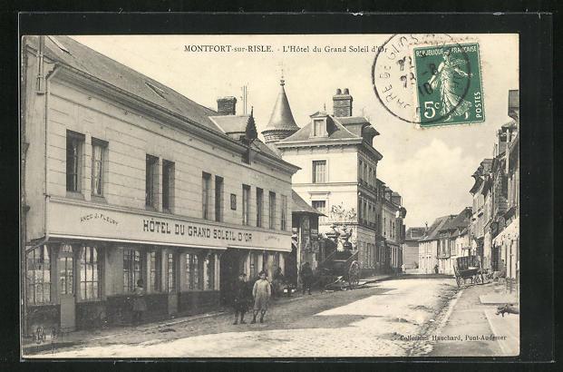 AK Montfort-sur-Risle, L'Hotel du Grand Soleil d'Or 0