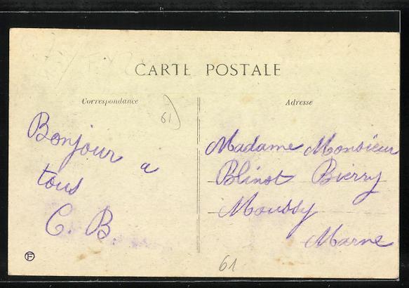 AK Conde-sur-Huisne, Grande-Rue, Häuserzeilen 1