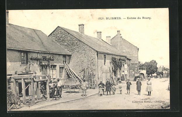 AK Blismes, Entree du Bourg, Feldsteinhaus 0