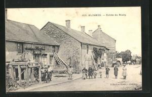 AK Blismes, Entree du Bourg, Feldsteinhaus