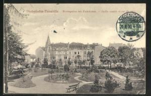 AK Diedenhofen-Thionville, Rosengarten mit Parkstrasse