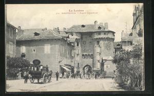AK Marvejols, Porte Chanelle, Tor mit Turm