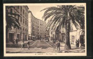 AK Ajaccio, Rue Fesch, Palmen
