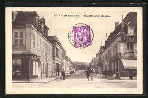 AK Saint-Amand, Rue Benjamin-Constant, Cafe