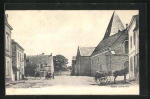 AK Saulges, Kirche und Häuser, Einspänner