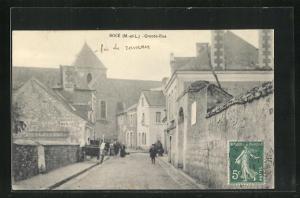 AK Boce, Grande-Rue, Häuserfassaden