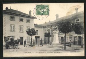 AK Gerdon, La Place et la Statue d`Allombert