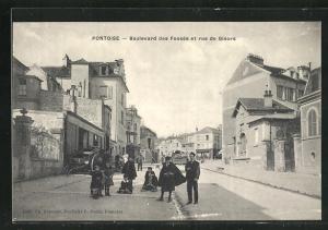 AK Pontoise, Boulevard des Fossés et rue de Gisors