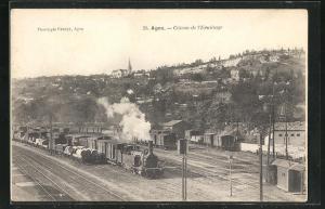 AK Agen, Coteau de l`Ermitage, Dampflokomotive