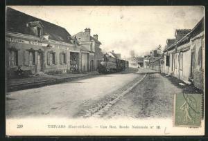 AK Thivars, Une Rue, Route Nationale no 10