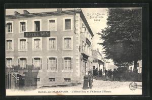 AK St-Pal-en-Chalencon, L`Hotel Rey et l`Avenue d`Usson