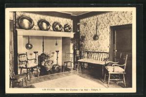AK Les Eyzies, Hotel des Glycines, Le Hall, Innenansicht