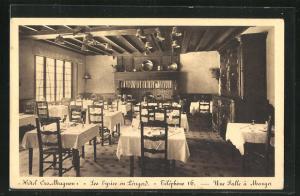 AK Les Eyzies en Perigord, Hotel Cro-Magnon, Une Salle a Manger, Innenansicht