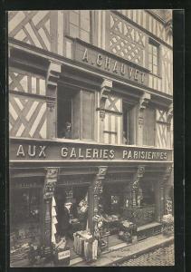 AK Beauvais, Vieille Maison, Aux Galeries Parisiennes, Rue Saint Jean