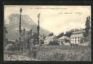 AK La Thuile, Blick auf Häuser und Galoppaz