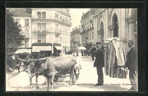 AK Aix-les-Bains, Place des Thermes, Retour du Marche, Porteurs