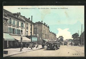 AK Bezons, Rue Emile-Zola, Carrefour du Grand-Cerf