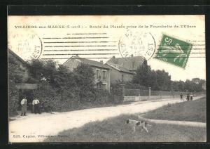 AK Villiers-sur-Marne, Route du Plessis prise de la Fourchette de Villiers