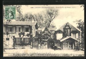 AK Lavarenne-Chennevieres, Entree de l`Ecu de France, kleine Häuser