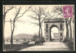 AK Sancerre, Vue panoramique prise du Pont de St-Thibault