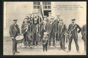 AK Mauves, Le petit Conscrit, Julien Touchard, ne le 19 Juillet 1888, Liliputaner