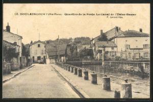 AK Doulaincourt, Quartier de la Poste, le Canal de l`Usine Giraud