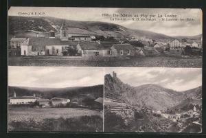 AK Lozere, De Nimes au Puy, La Bastide, N.D. des Neiges & St. Laurent-les-Bains