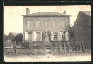 AK Pisseleu, L`Ecole et la Mairie