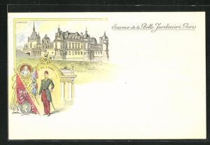 Lithographie Chantilly, Belle Jardiniere, le Duc d`Aumale